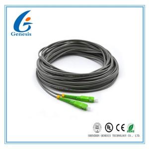 50 M SC / APC Optical Fiber Pigtail , Gray 2 Core Simplex Single Mode Pigtail