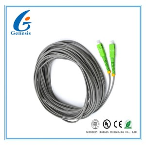 Simplex SC / APC Pigtail SM G652D 2.0mm 2 Core Single Mode Fiber Jumpers