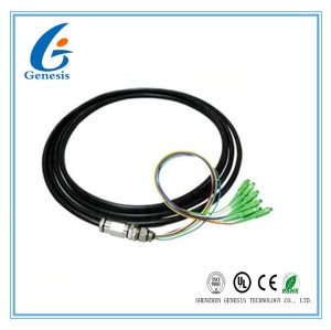 6 Core SC / APC Fiber Optical Pigtail Waterproof , Outdoor SM 9 / 125 G652D Fiber Cable