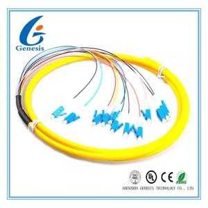 LC / UPC Fiber Optic Jumper Cables , G657A Yellow Simplex Fiber Patch Cord