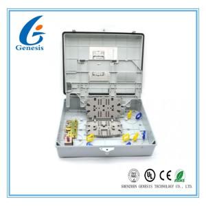 8 Core Outdoor Telephone Fiber Optic Distribution Box , Fiber Optic Enclosures Wall Mount