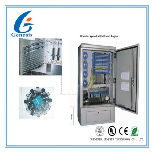 576 FDH Fiber Optic Junction Box , IP65 Outdoor Optical Cross Connection Cabinet