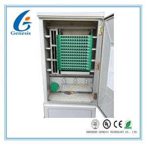 SMC Material Optical Fiber Distribution Cabinet , 144 Core Fiber Wall Mount Enclosure