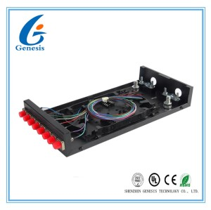 FC 8 Core ODF Optical Distribution Frame , Wall Mounted Fiber Optic Terminal Box
