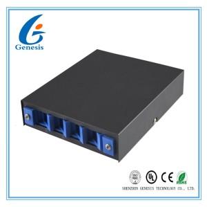 4 Port Fiber Optic Cable Box , SC ST FC Adapter Optical Fiber Distribution Box