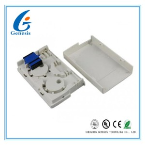 Gray Plastic Fiber Optic Distribution Box 2 * SC FTTH Flame Retardant For Indoor