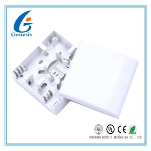 Indoor Fiber Optic Distribution Box Mini 2 Port 2 Core Fiber Wall Mount Enclosure