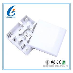 Indoor Fiber Optic Distribution Box Mini 2 Port 2 Core Fiber Wall Mount Enclosure