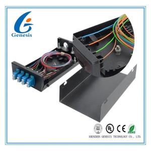 Metal Distribution Box 4 Port 8 Cores Splice Tray LC Pigtail Wall Mount Fiber Enclosure