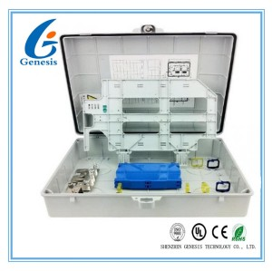 Grey / Beige Fiber Optic Distribution Box 48 Ports ABS FTTH Termination Box