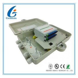 IP67 Optical Distribution Frames 16 Ports Wall Lock Box For FTTH Access Network