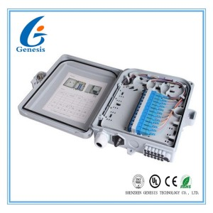 12 Ports Fiber Optic Termination Box 22.2 * 20.4 * 5.4cm Waterproof Junction Box
