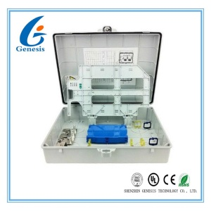 Outdoor Fiber Optic Termination Box 48 Core Wall Mounted Enclosure Box For FTTB
