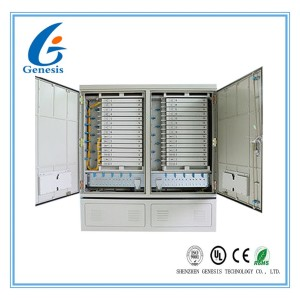 IP 65 576GS Street Fiber Optic Joint Box Cabinet Stainless steel SMC Housing