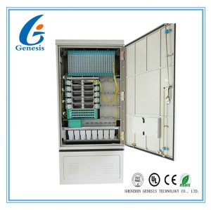 288GS Street Fiber Optic Cabinet Outdoor , Fiber Optic Splice Closure Cross Connection