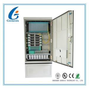 288GS Street Fiber Optic Cabinet Outdoor , Fiber Optic Splice Closure Cross Connection