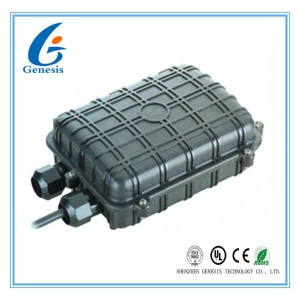 Horizontal Splice 2 front ports Fiber Optic Joint Box in FTTx or FTTH project