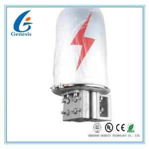 OPGW 48 Fiber Optic Joint Box 2 Ports Metal Silver Color Outdoor Fiber Splice Enclosure