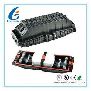 3 In 3 Out Fiber Optic Splice Enclosure , 96 Core Horizontal Type Fiber Optic Splitter Box