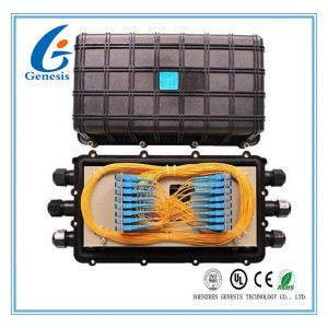 Horizontal Fiber Optic Joint Box 3 In 3 Out Mechanical Sealing Fiber Enclosure Box