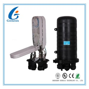 96 Core Fiber Optical Splice Closure Mechanical Sealing Structure Black For Ribbon Fibers