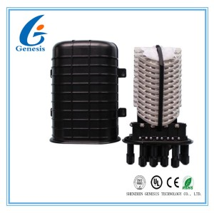 Dome Type Fiber Optic Joint Box PC Plastic 144 Core Optical Fiber Closure