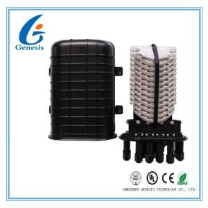 Dome Type Fiber Optic Joint Box PC Plastic 144 Core Optical Fiber Closure