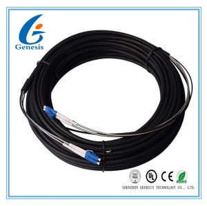 50M Steel Armored Fiber Optic Patch Cable , LC - LC MM Duplex Fiber Optic Cable