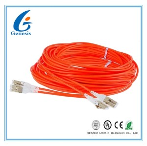 LSZH Jacket LC - LC Fiber Optic Patch Cables MM Duplex G652D 50 / 125 Fiber Optic Cable