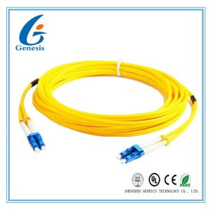 12 Core Single Mode Fiber Optic Cable 3M G652D 9 / 125um Fiber Jumper Cables