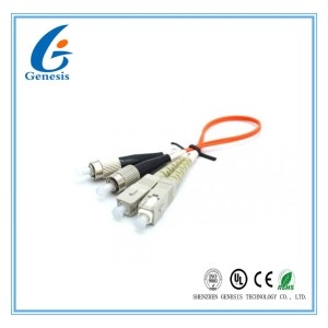 50 /125 Fiber Optic Cable Various Color , 3M Multiplex LC ST Fiber Patch Cable