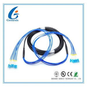 LC - LC Single Mode Patch Cord , Armored 4 Core Optical Fiber Cable For Outdoor