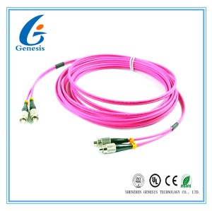 Gigabit Multimode Fiber Optic Patch Cord Duplex OM4 FC - FC Patch Cord OEM / ODM