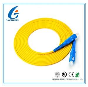 3.00mm 3M SC - SC Fiber Patch Cord , LSZH / PVC Jacket Fiber Optic Jumper Cables