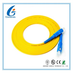 3.00mm 3M SC - SC Fiber Patch Cord , LSZH / PVC Jacket Fiber Optic Jumper Cables