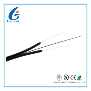 Bow type Indoor drop cable/Indoor FTTH Fiber Optic Cable , 4 core FTTH drop cable