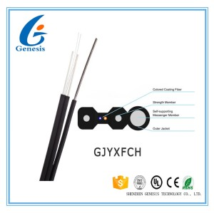 Slef-Supported Tight Buffer Flat Drop Cable ,FTTX drop cable