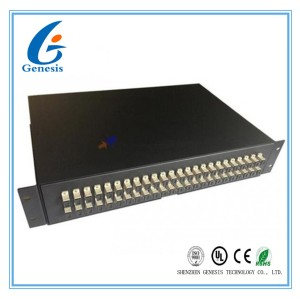 Steel Sc Fiber Optic Joint Box , 48 Port Fiber Patch Panel Drawer Type