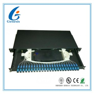 SC 24 port rack mount patch panel 1U 19