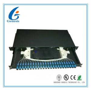 SC 24 port rack mount patch panel 1U 19