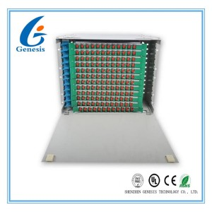 288 Core Fiber Optic Distribution Unit , Multimode 144 Port Fiber Patch Panel