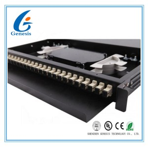 CATV 72 Port Fiber Optic Patch Panel 24 Core SC MM Adapter ODF Low Excess Loss
