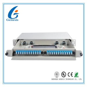 Pigtail Fiber Optic Distribution Frame , 24 Port Rack Mount Patch Panel Simplex