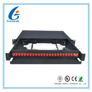 19 Inch FC 1U Fiber Optic Rack Mount Patch Panels 450 * 277 * 45mm For Network