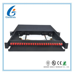 19 Inch FC 1U Fiber Optic Rack Mount Patch Panels 450 * 277 * 45mm For Network