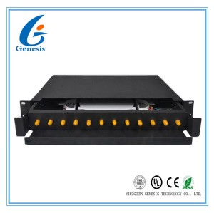 Rack Mount Fiber Optic Patch Panel Drawer Type 19 Inch 12 Core For Broadband