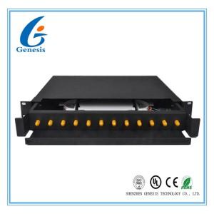 Rack Mount Fiber Optic Patch Panel Drawer Type 19 Inch 12 Core For Broadband