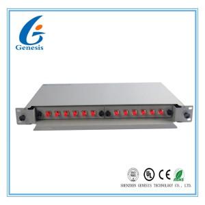 Rack Mount Fiber Patch Panel 12 Port 19′′ 1U FC Adapter Singlemode Metal Alloy