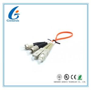 Câble Optique De Fibre 50 125 Diverse Couleur, Cordon Multiplex Des Fibre