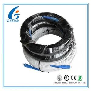 200m Fibre Extérieur Cordon Optique SC Câble FTTH Plat Avec Messager